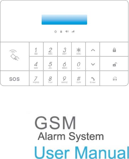SZ PGST PG100 GSM alarm system User Manual