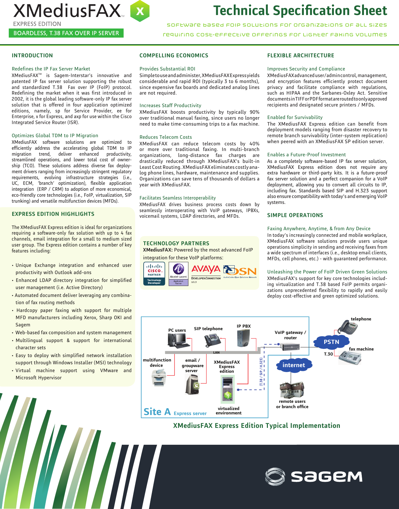 Page 1 of 2 - Sagem Sagem-Xmediusfax-Users-Manual-  Sagem-xmediusfax-users-manual