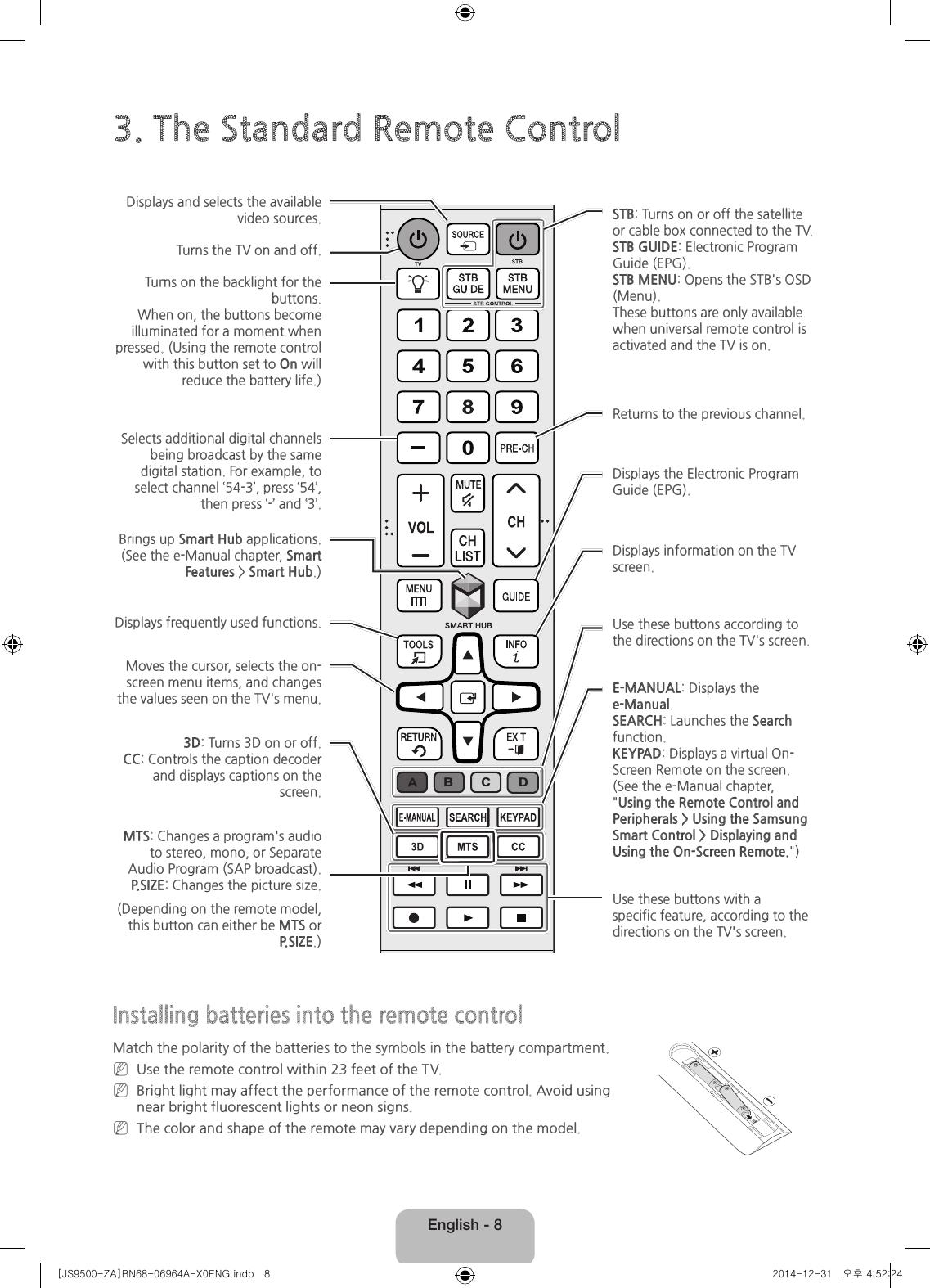 samsung electronics co rmctpj smart control user manual rh usermanual wiki samsung smart tv user manual downloads samsung smart tv user manual downloads