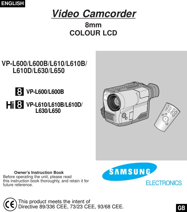 Samsung 00334F VP L610 UK(1 19) L650 20030512152909625 UK