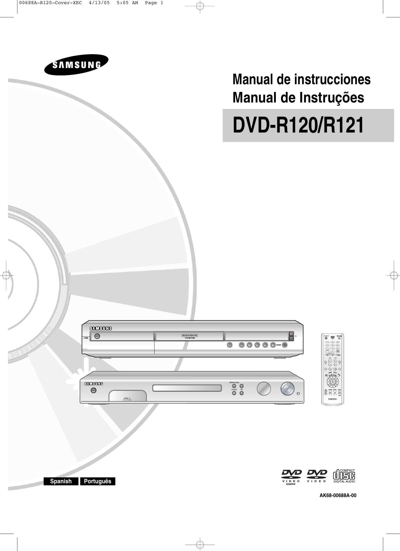 Page 15 of samsung dvd recorder dvd-r120 user guide.