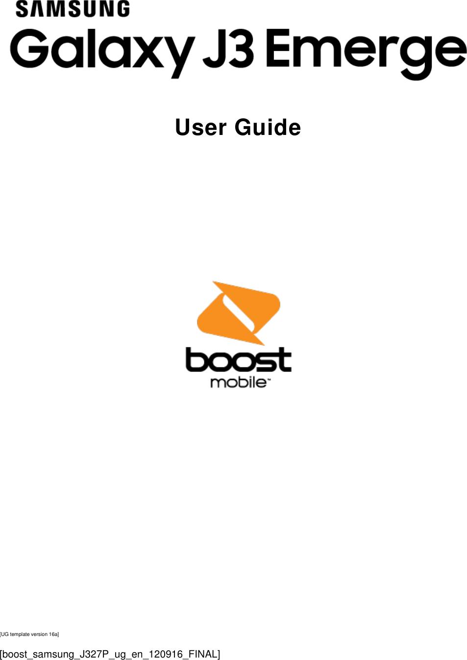 Samsung Galaxy J3 Emerge J327P User Guide Manual BST SM EN