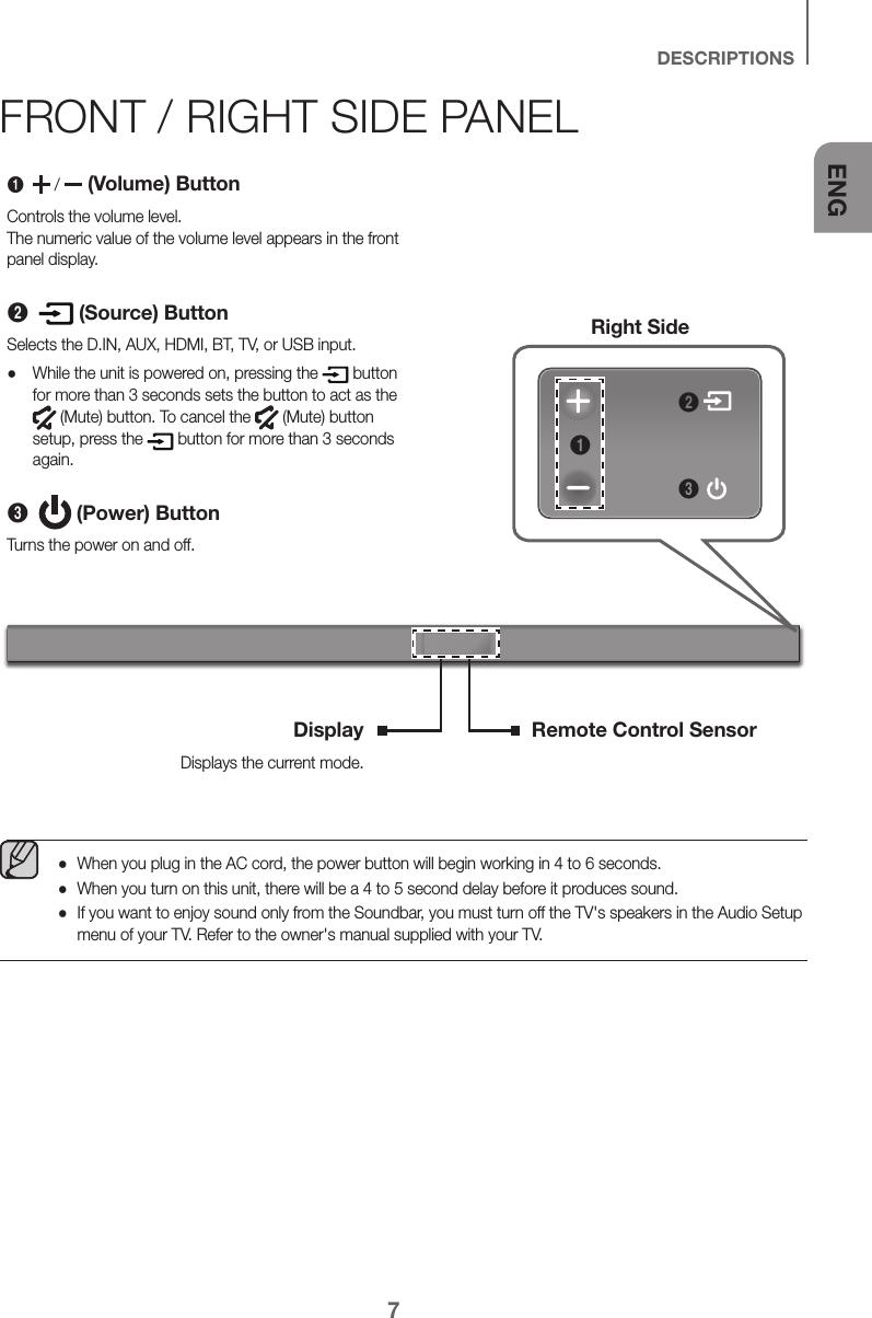 Samsung HW K550/ZA ZZ01 User Manual SPEAKER Manuals And
