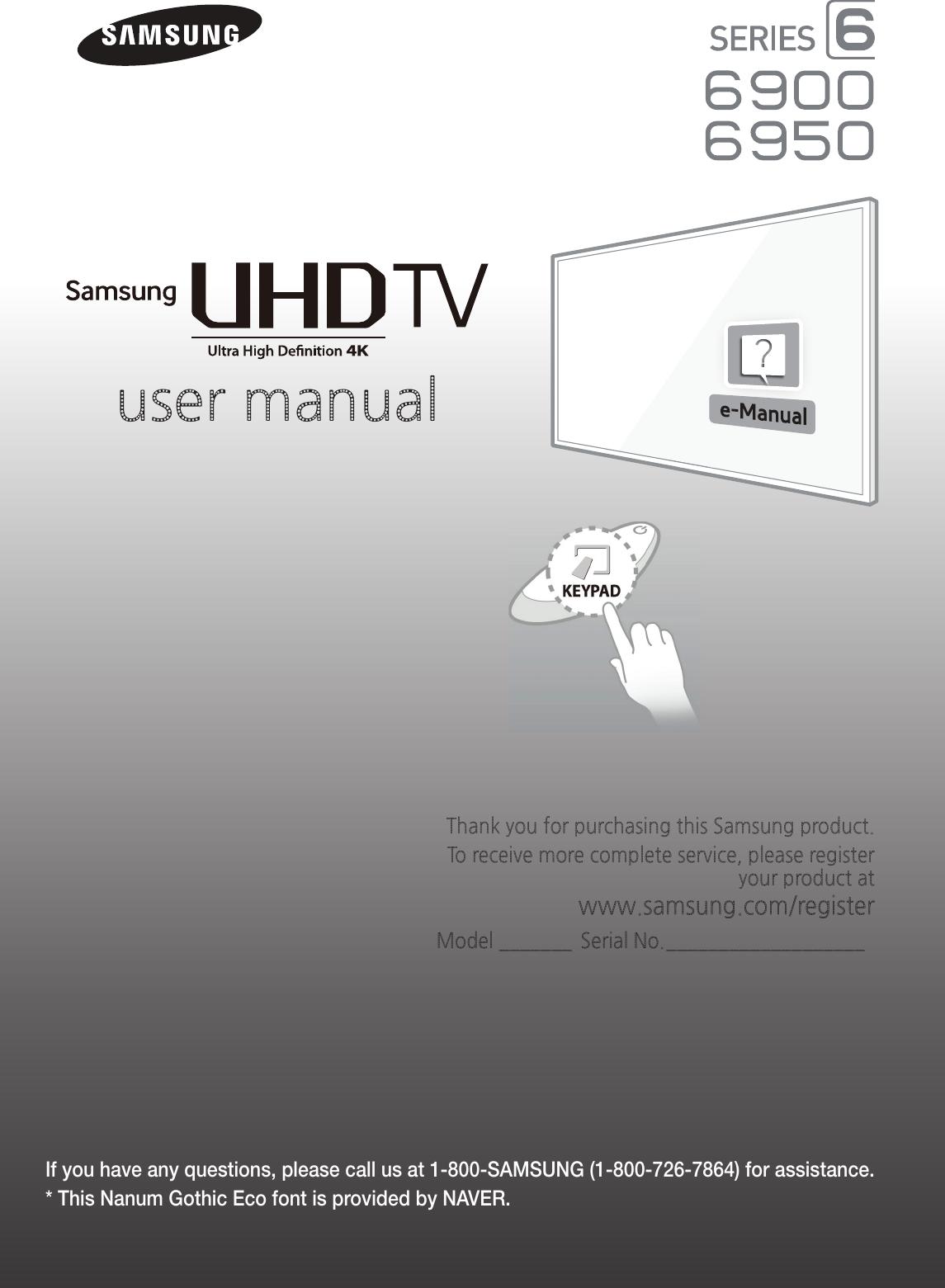samsung 55 4k uhd 60hz smart led un55hu6950 users manual 30540u6950 rh usermanual wiki