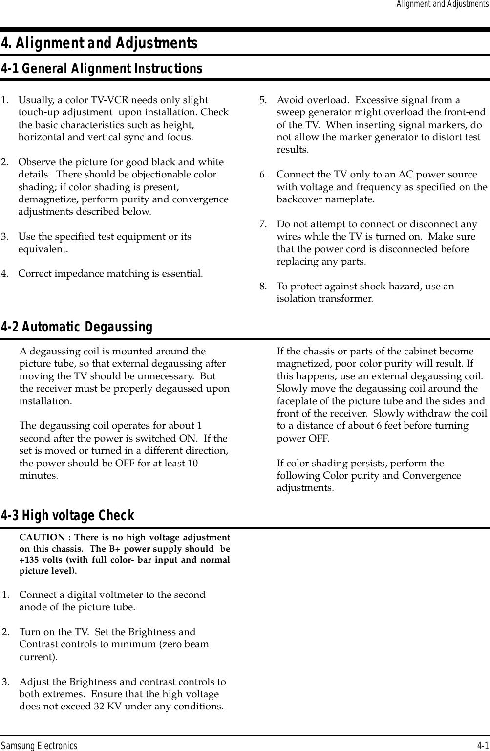 Samsung Cs29A5Wt8X Xsg Users Manual