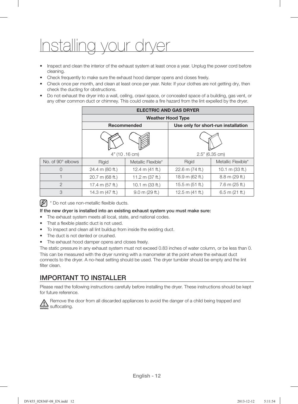 Samsung Dv455Gvgsgr Aa Product Manual DV455_02836F 08_EN