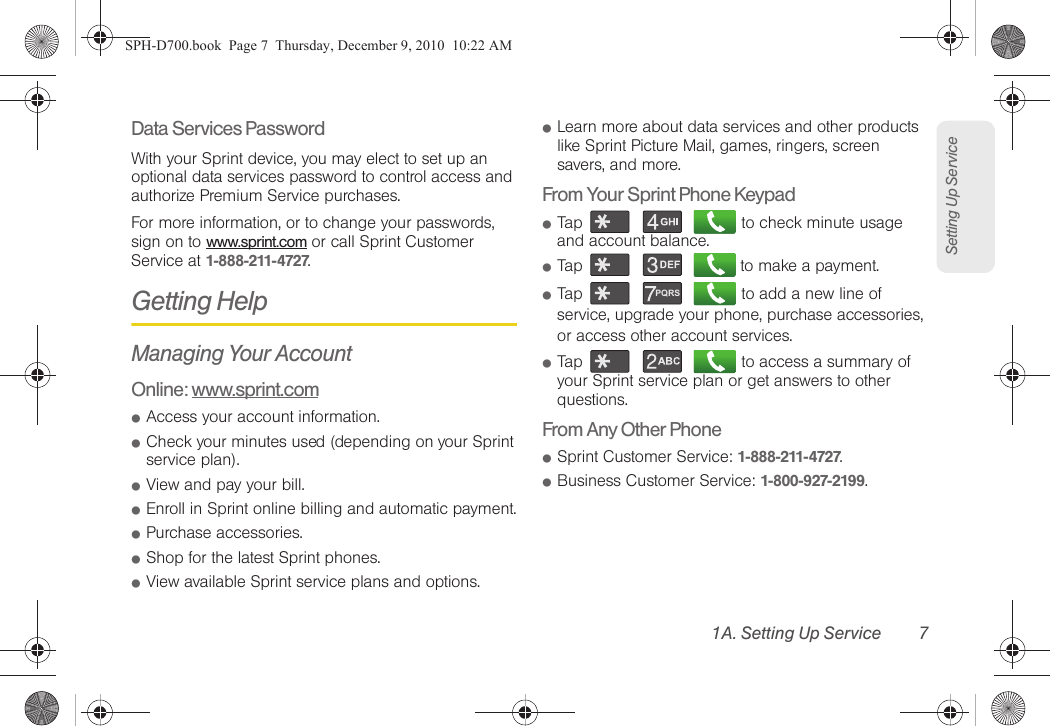 Samsung Epic 4G Sprint User Guide SPH D700