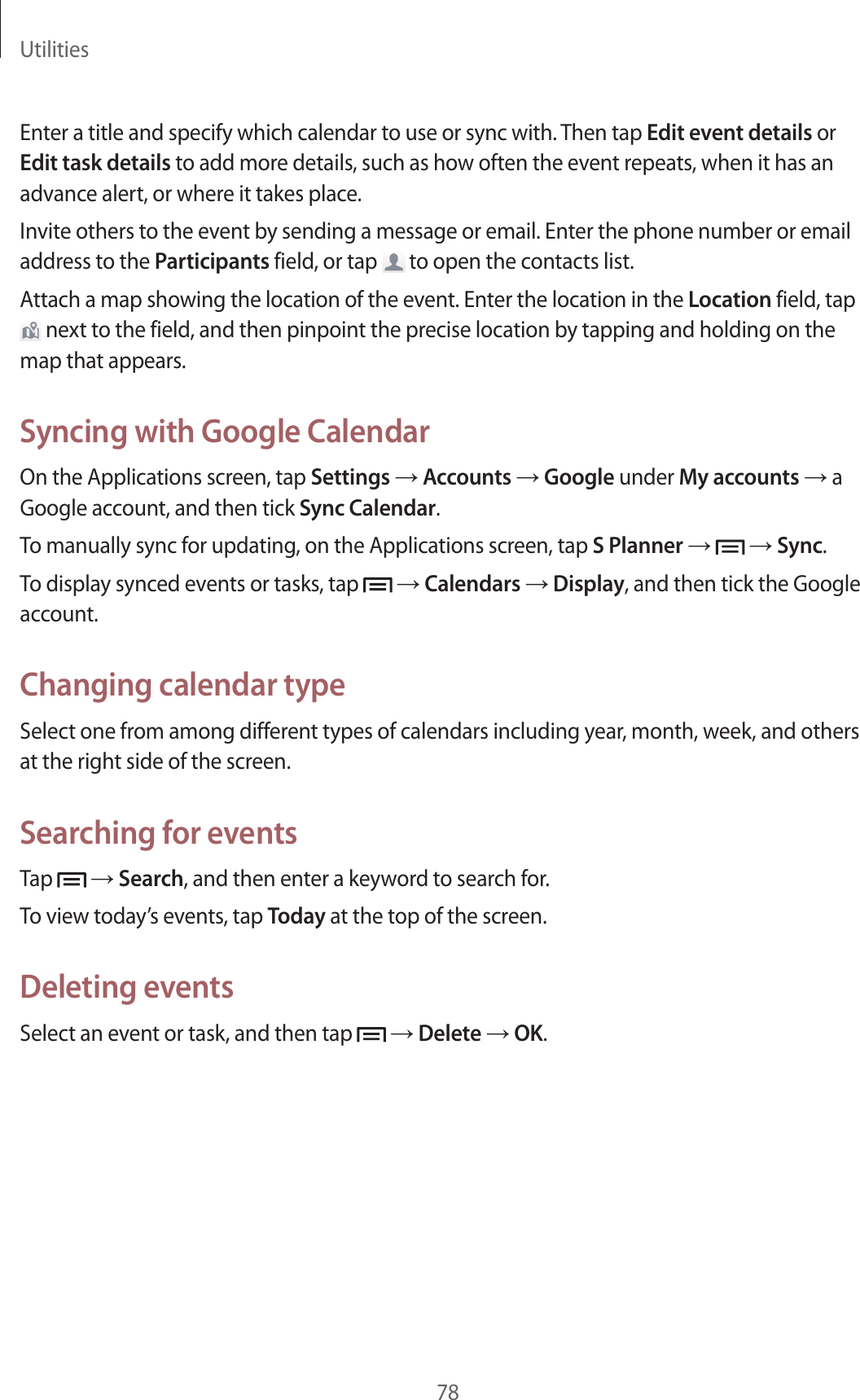 Samsung Galaxy S Duos 2 Users Manual