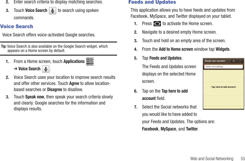 Samsung Galaxy Tab Users Manual GT P1010