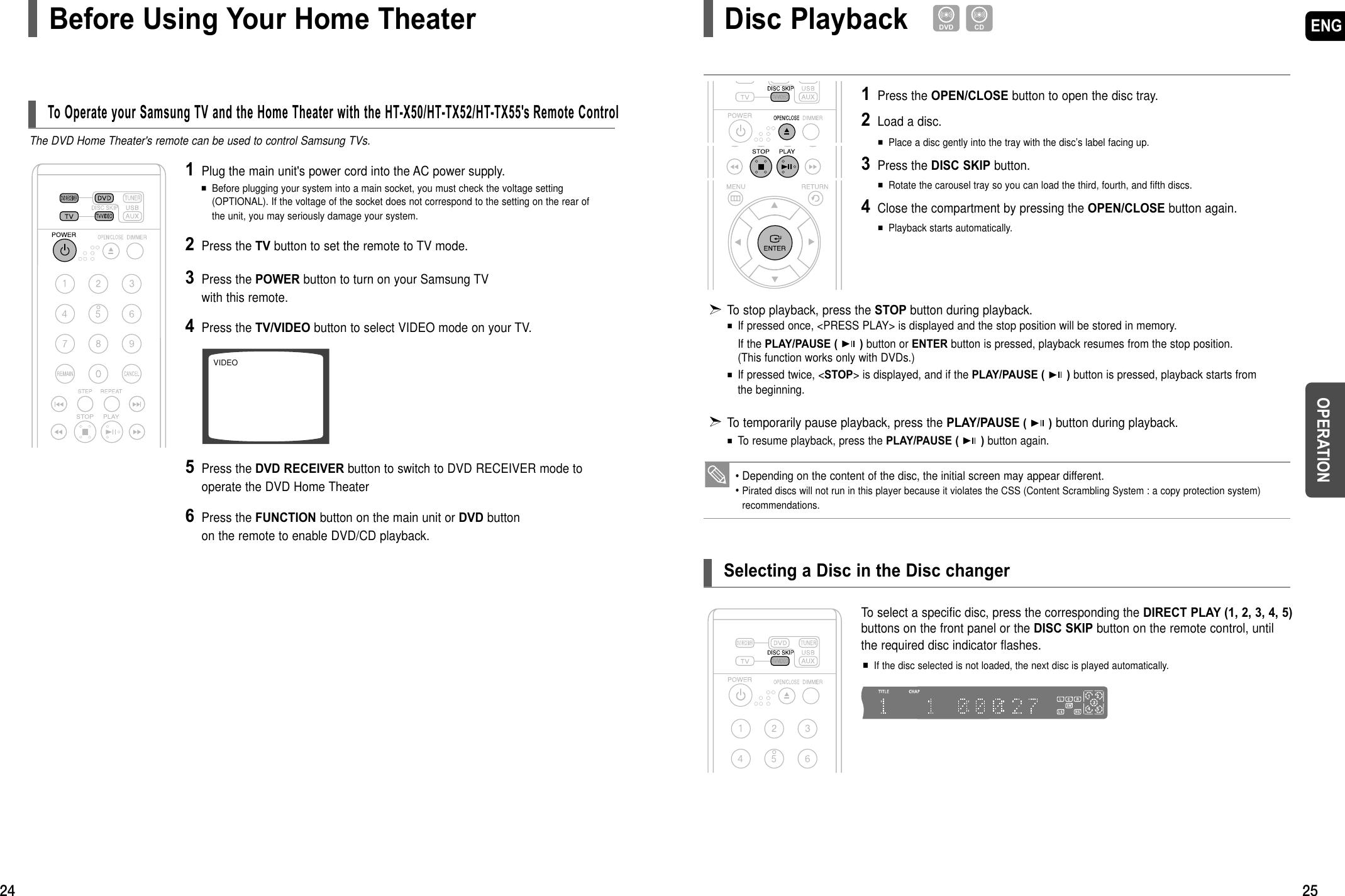 Samsung Ht Tx52 Users Manual