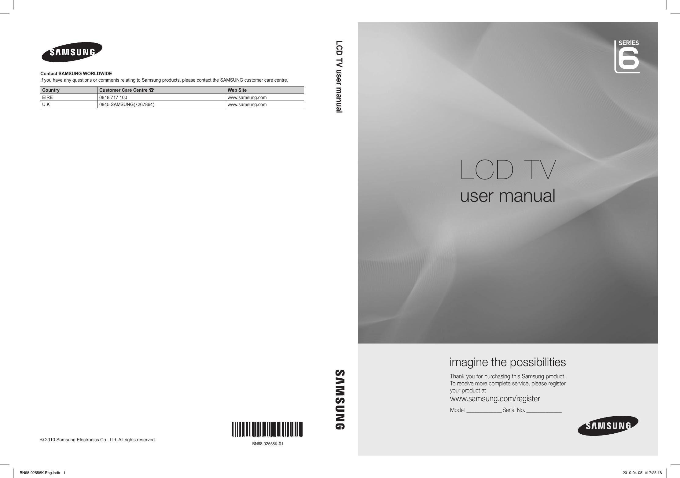 SamsungLe32C650UsersManual User Guide Page 1