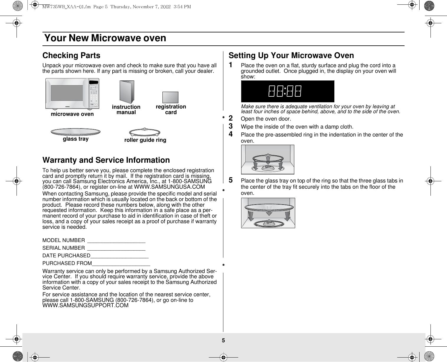 Samsung Mw725Bb Users Manual