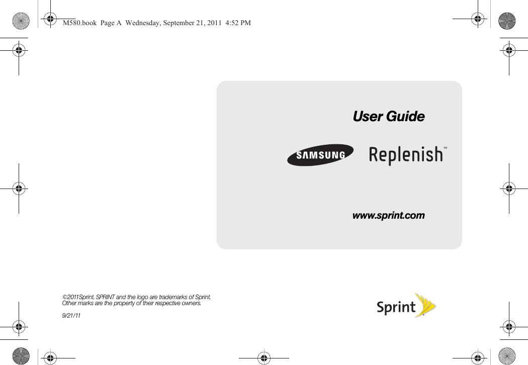 Samsung Replenish Sprint User Guide Sph M580 Ug Ed23 Lh 092111 F14 Web