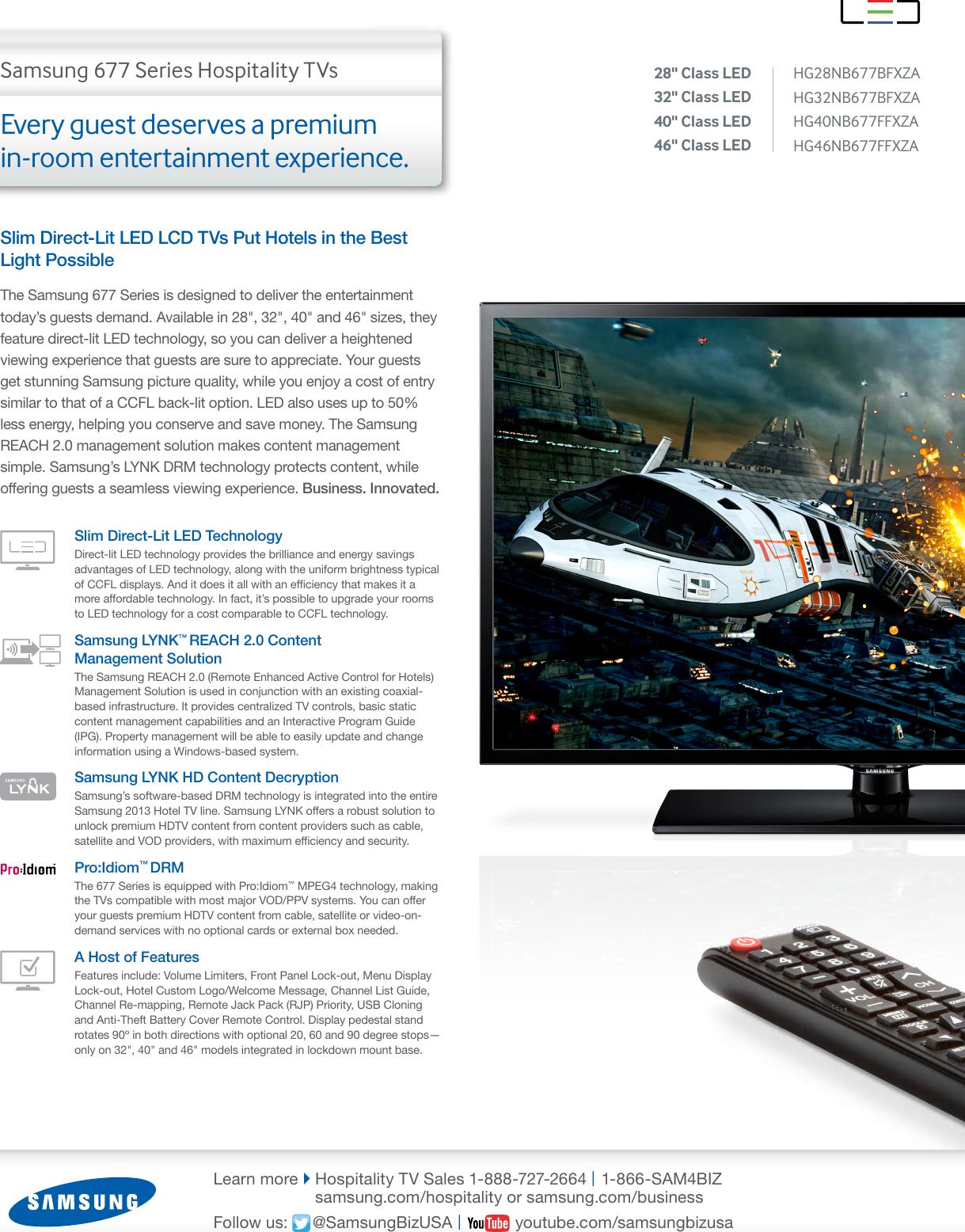 Samsung 40In Slim Direct Lit Led Tv Hg40Nb677Ffxza Users Manual