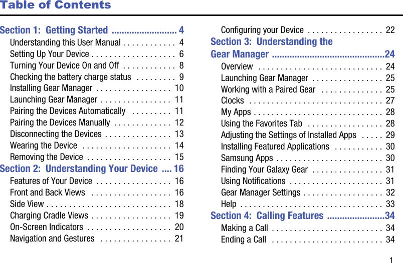 Samsung Galaxy Gear Watch Sm V7000Zkaxar Users Manual V700 User