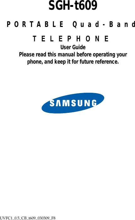 Samsung Sgh T609 T Mobile User Guide