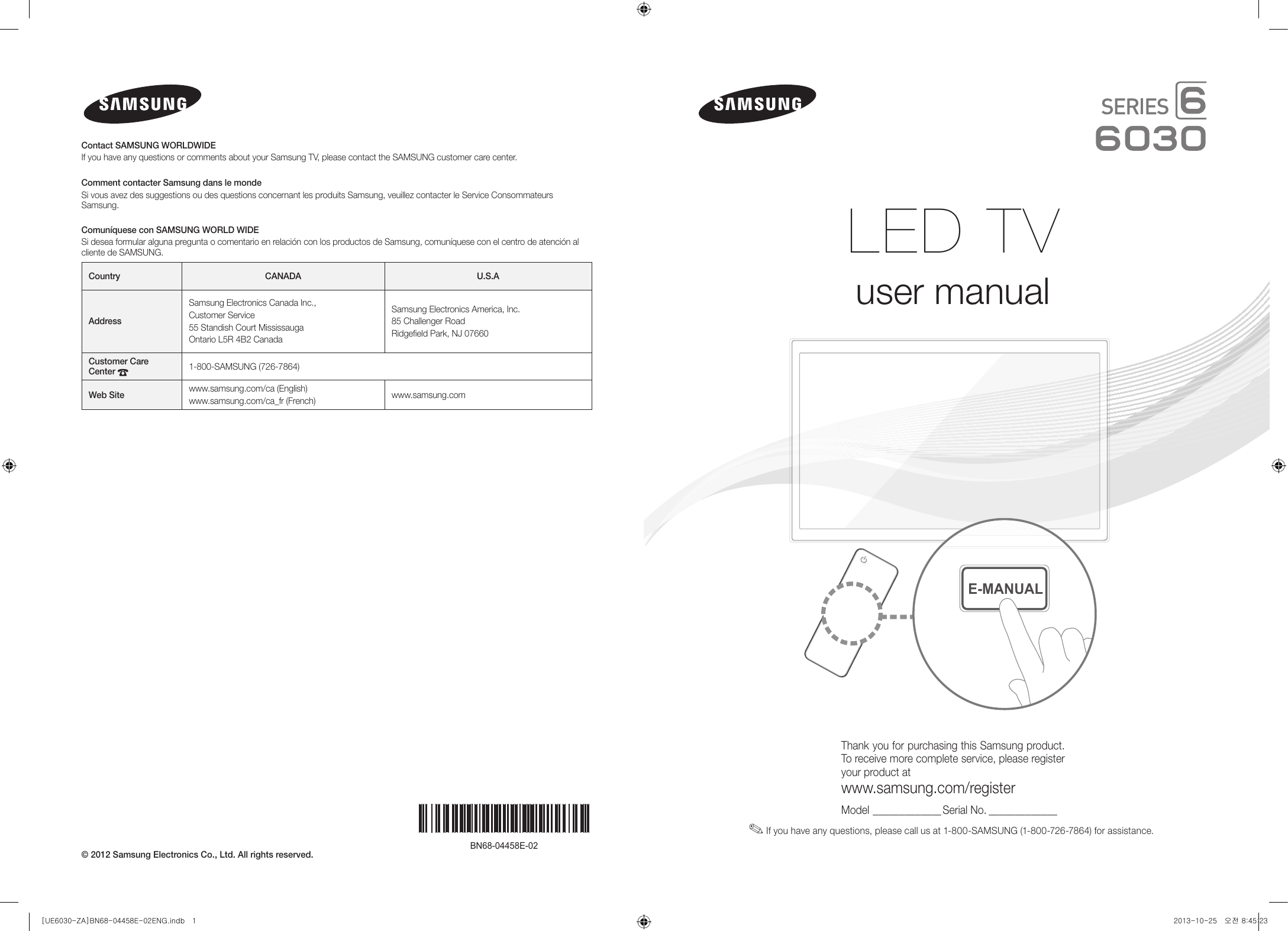 samsung un55fh6030fxza users manual