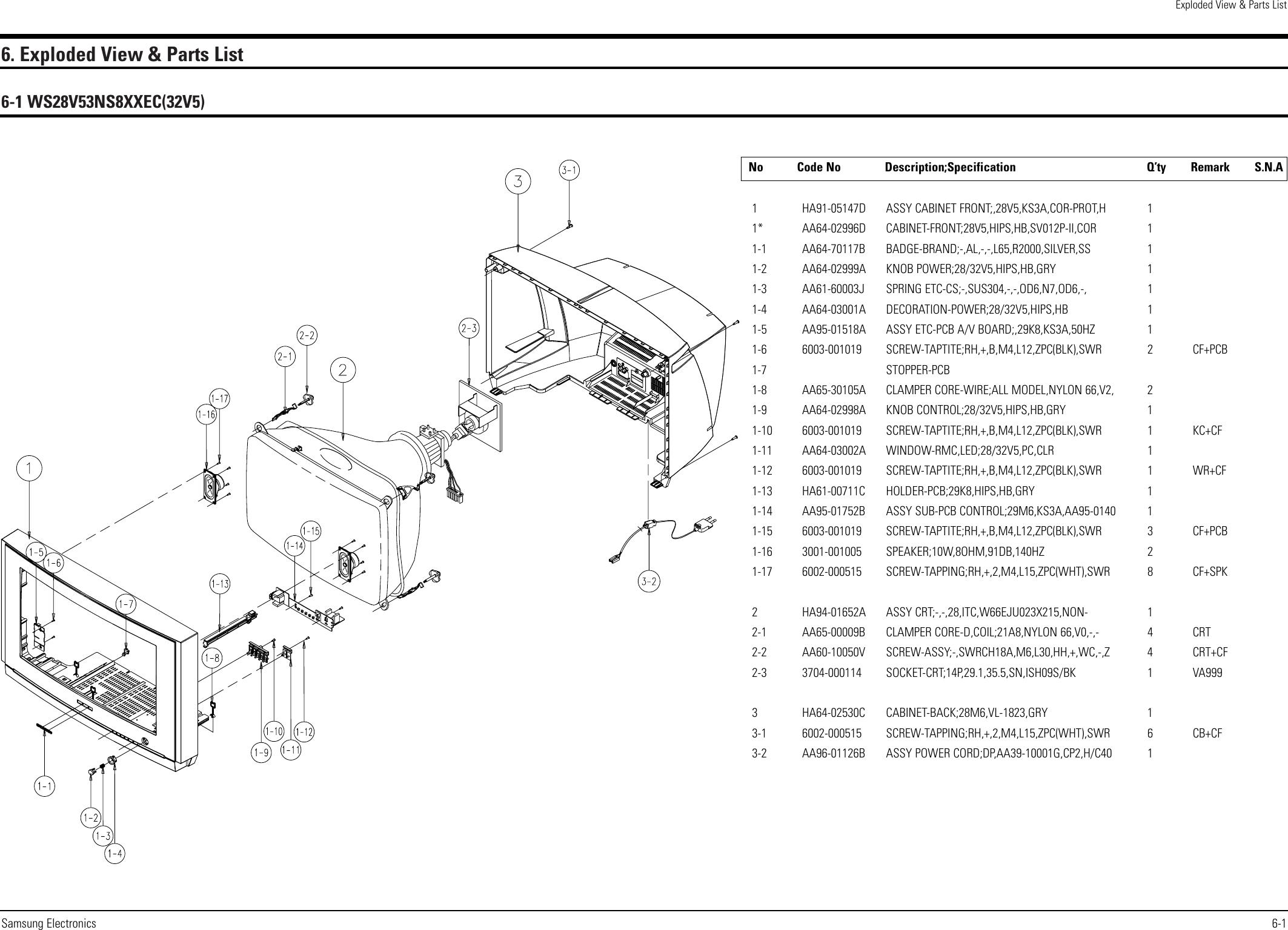 Samsung Ws28V53Ns8Xxec Users Manual KS3A 0820 COVER