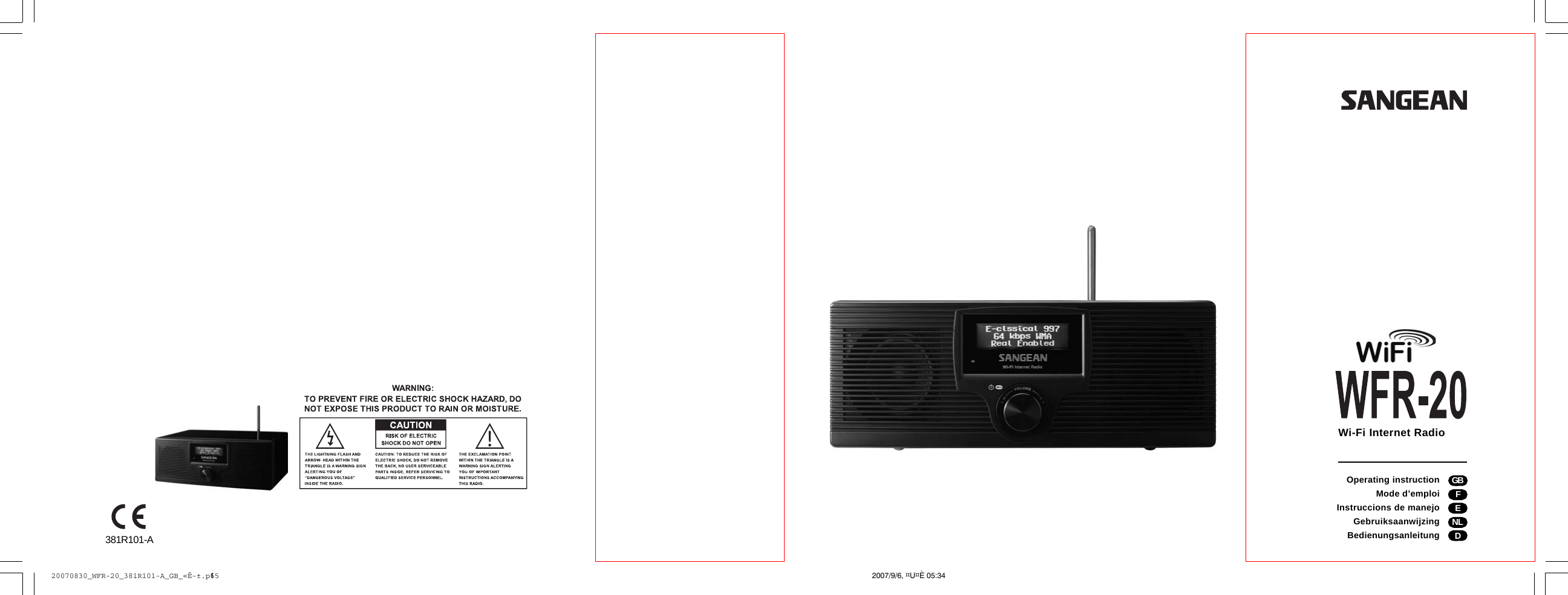 sangean electronics 010 internet radio user manual 20070830 wfr 20 rh usermanual wiki Sangean HDT-1 Sangean ATS-909X