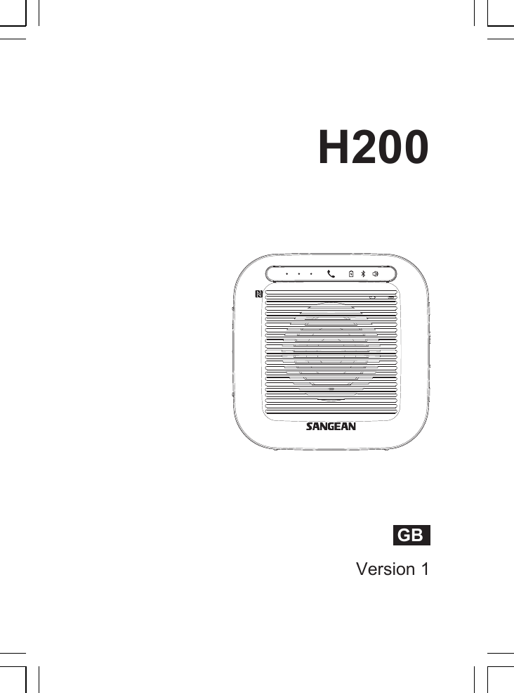 sangean electronics h200 waterproof bluetooth speaker user manual rh usermanual wiki Sangean ATS-909X Sangean HDT-1