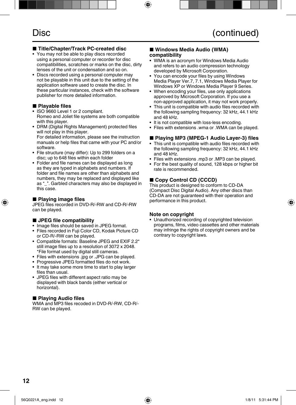Sanyo Dp26671 Users Manual 56Q0221A_eng
