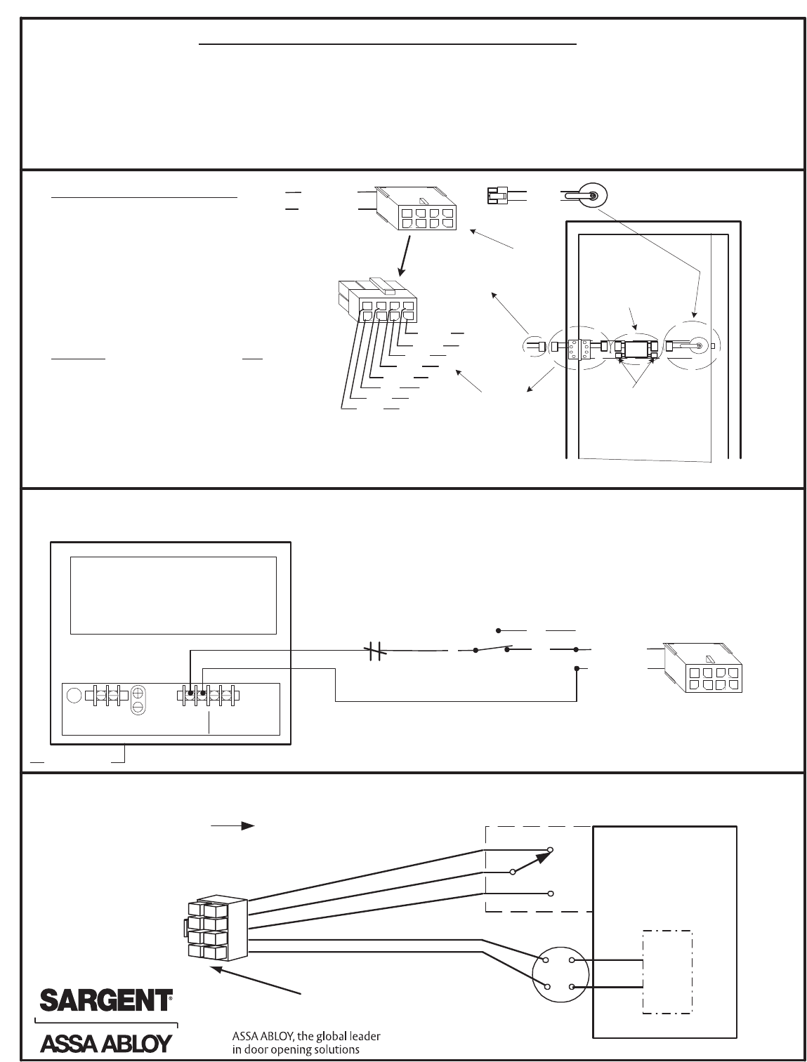 Sargent A6761c Installation Instructions For 10g70 10g71 Electro Odes Wiring Diagram Sample Series Solenoid Locks With A 12vdc Or 24vdc Regulated And Filtered Power Supply