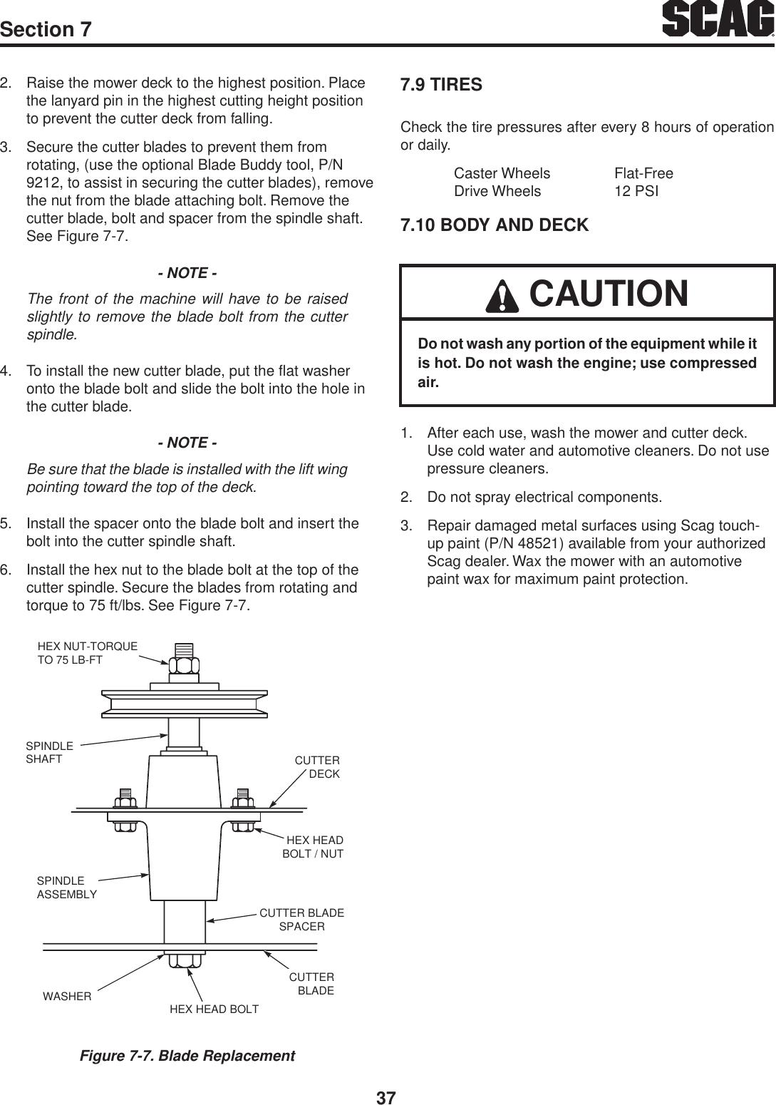 Scag Power Equipment V Ride Svr36A 20Fx Users Manual Operators 03259