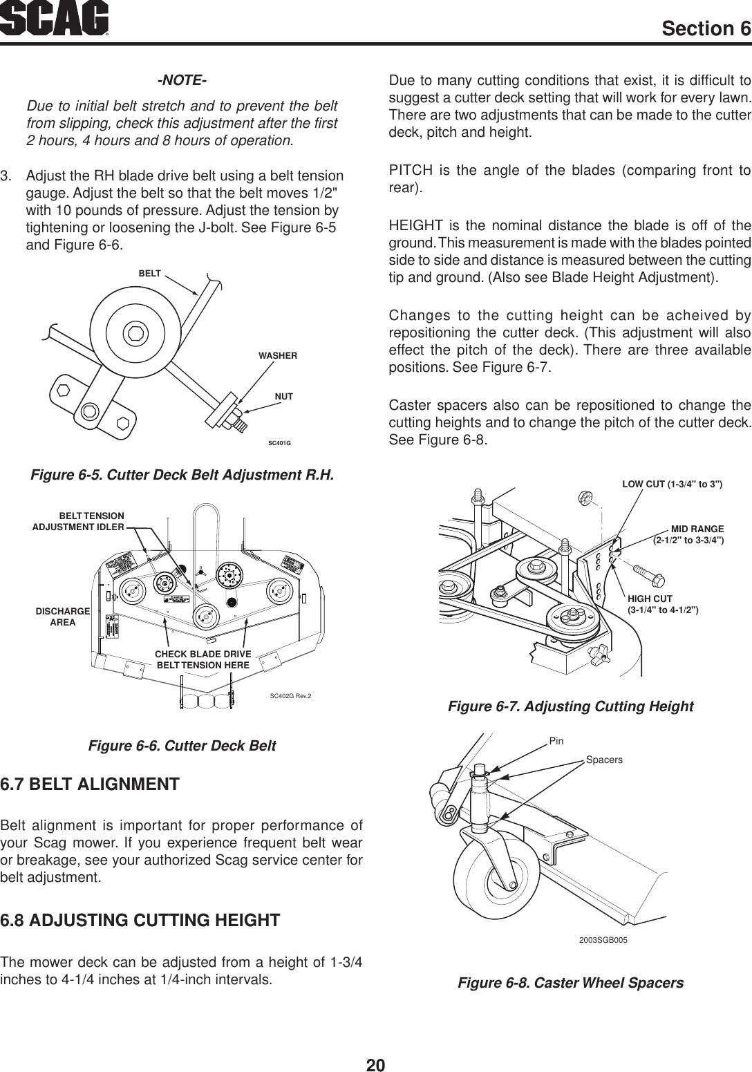 Scag Power Equipment Walk Behind Swz 19Kai Users Manual