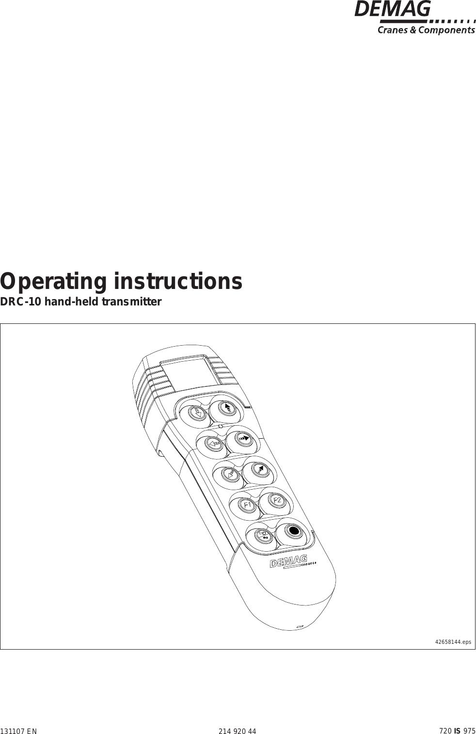 [DIAGRAM_38EU]  Scanreco D210TR03FH917 Remote Control User Manual DRC 10 | Demag Drc Dc Wiring Diagram |  | UserManual.wiki