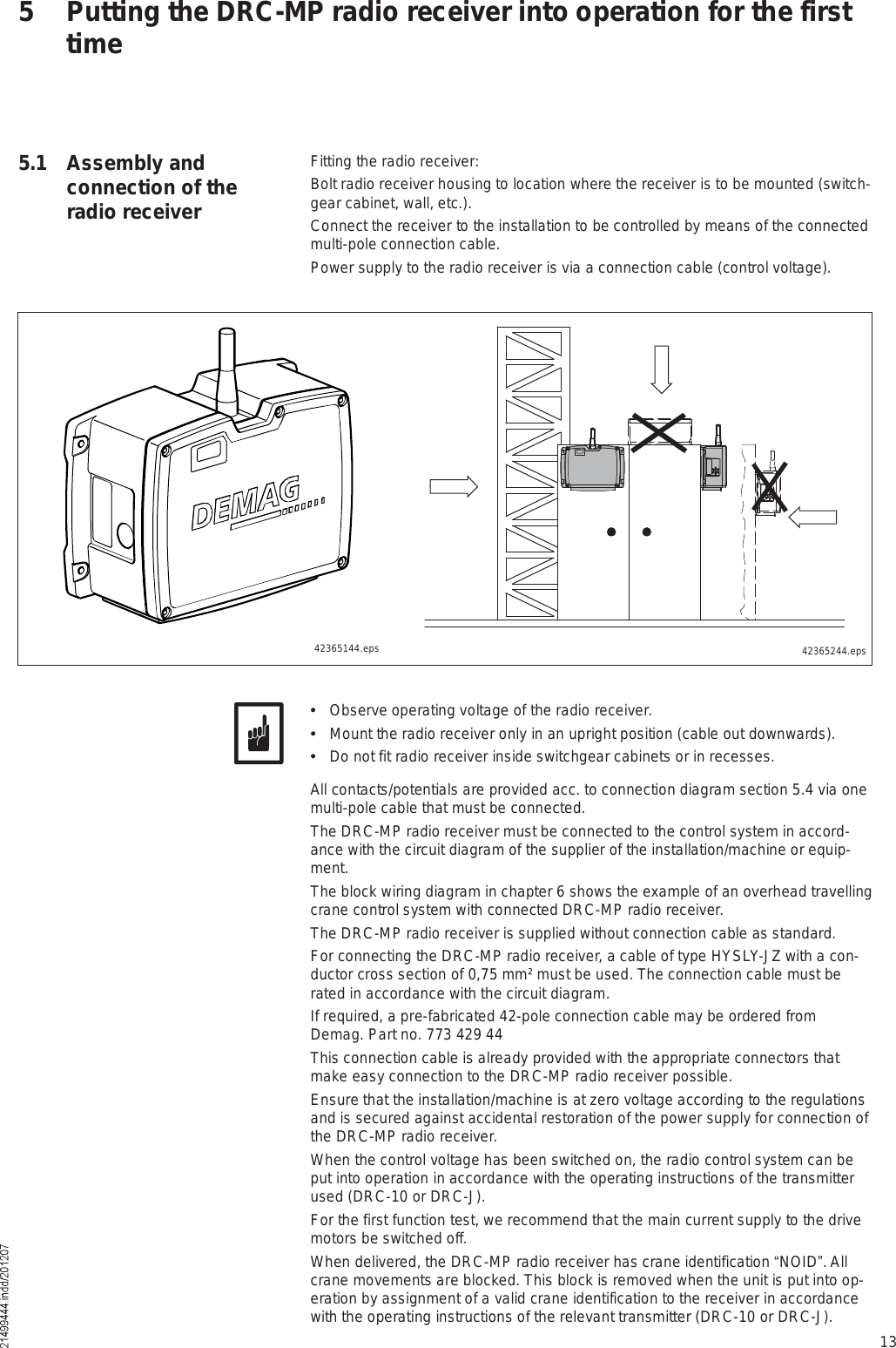 Scanreco D2mptr03fh917 Receiver User Manual Drc Mp Radio Transmitter Circuit Diagram 13fitting The Receiverbolt Housing To Location Where Is