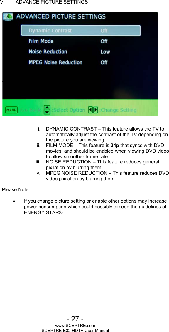 Sceptre Technologies E32 Users Manual E325BD HD 12222011