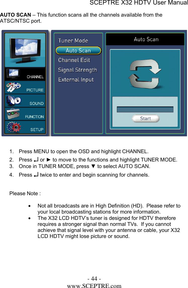 Sceptre Technologies X32 Users Manual X32GV KOMODO 10272006