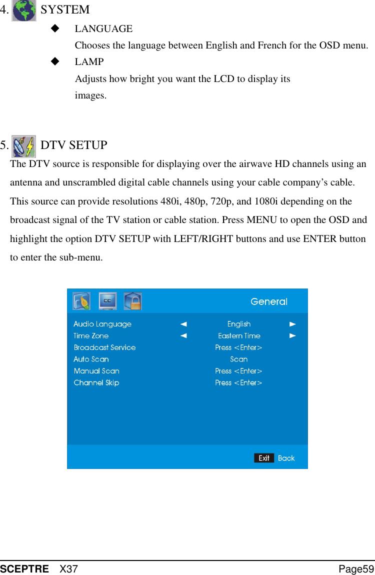 Sceptre Technologies X37 Users Manual V2 a_60807