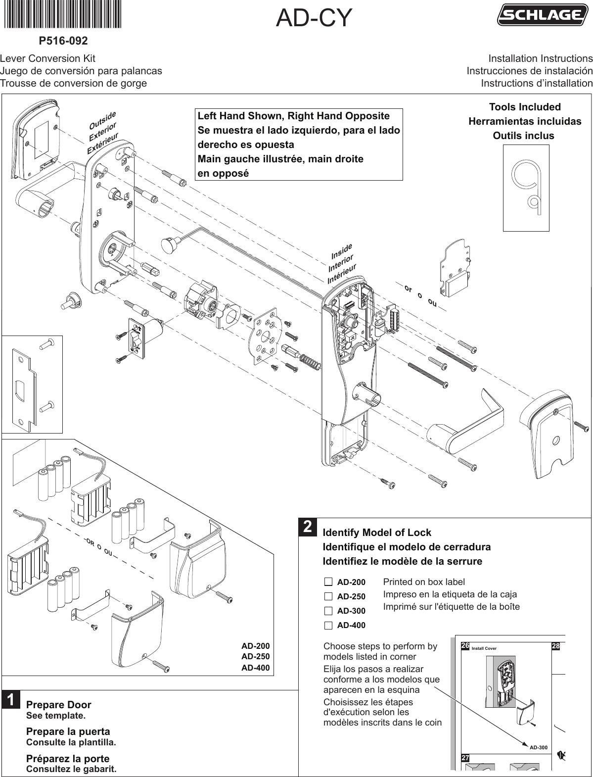 schlage electronics mechanical installation manuals ad series rh usermanual wiki Speaker Wiring Parallel vs Series Detroit Series 60 Wiring-Diagram