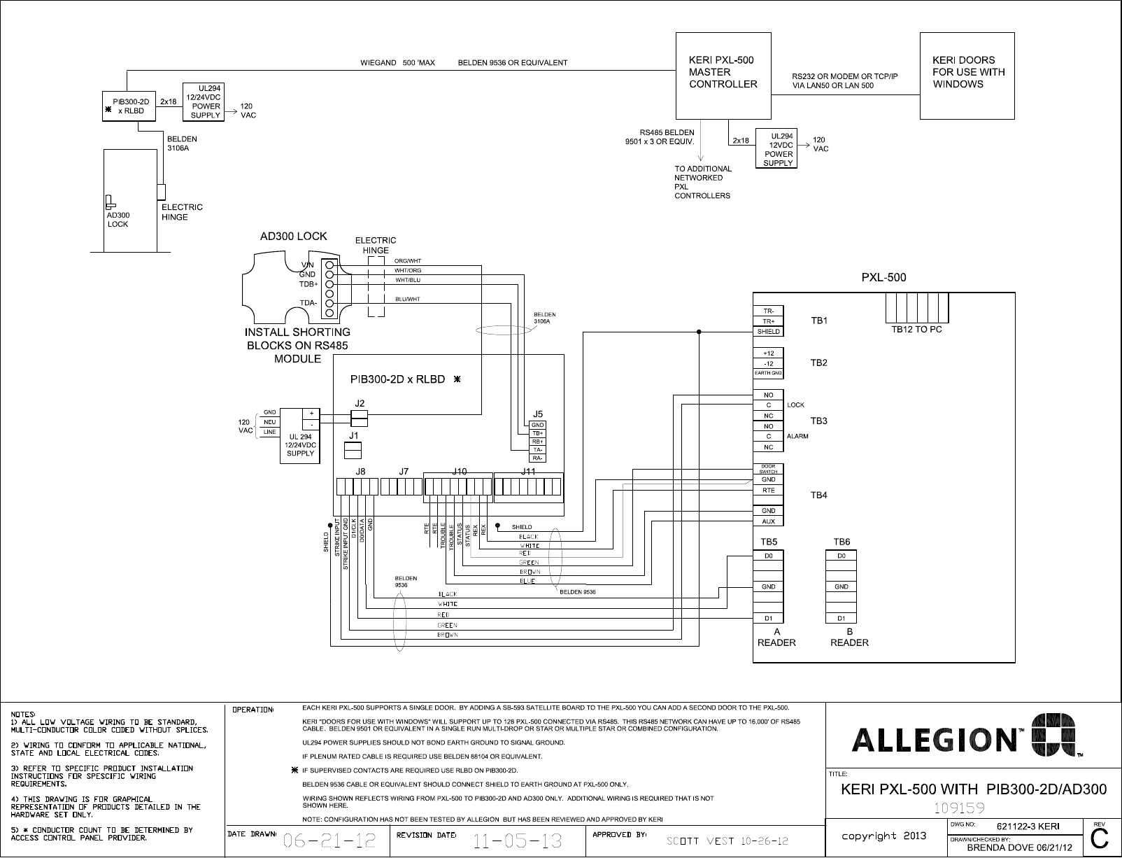 schlage electronics c ad 400 pim400 485 wiring diagram with keri rh usermanual wiki Schlage Commercial Locks Diagram Schlage Cylinder Diagram