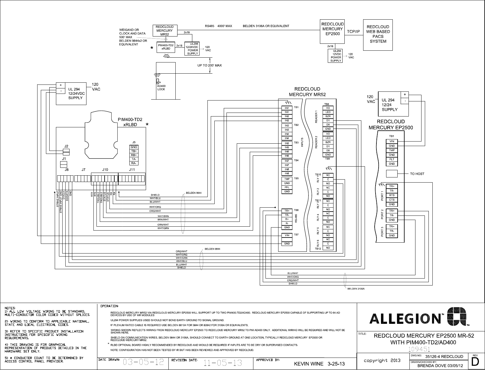 [SCHEMATICS_48ZD]  Schlage Electronics C AD400 Wiring Diagram Red Cloud EP2500 MR52 Wiegand  109451 | Wiegand Wiring Diagram |  | UserManual.wiki
