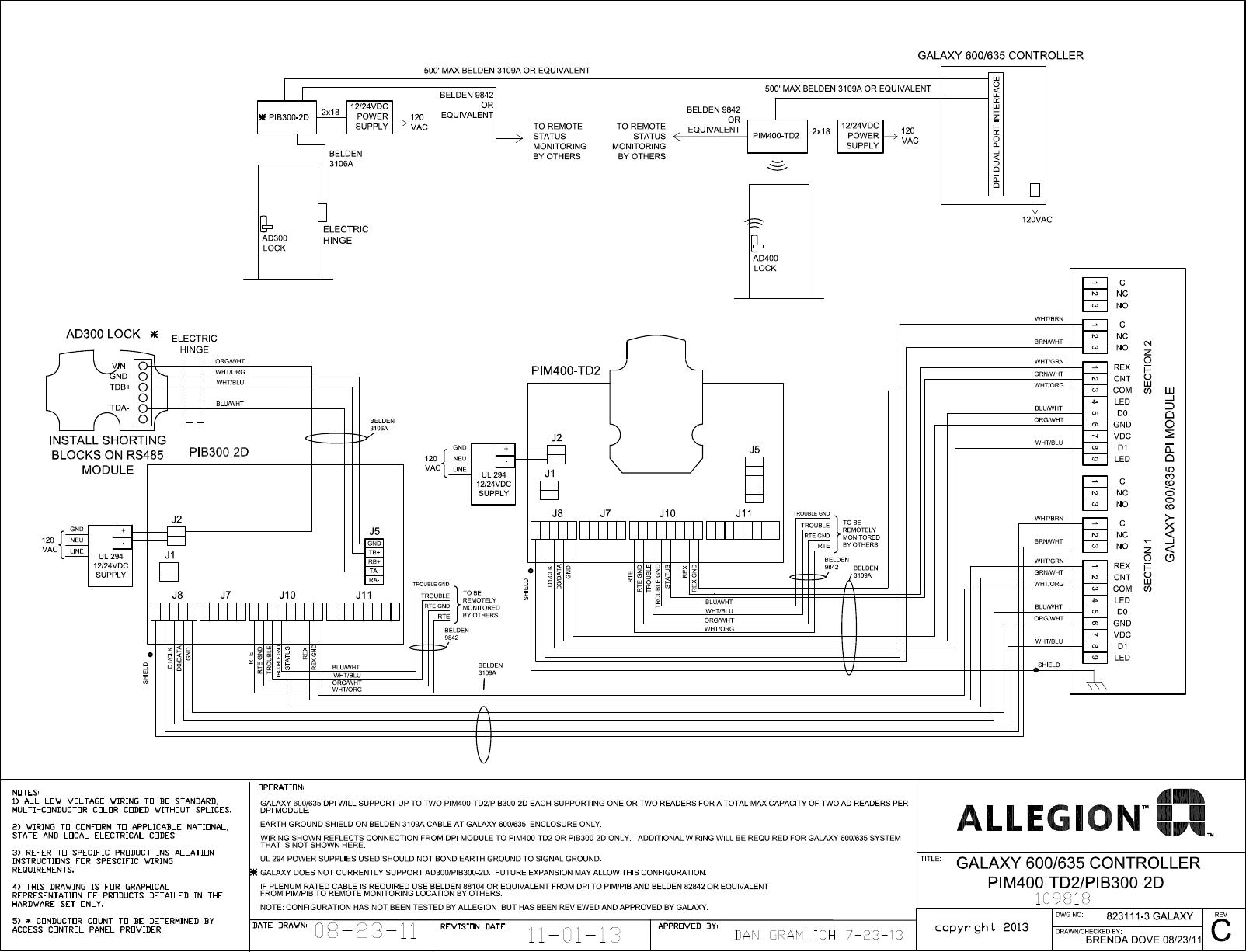 Schlage Electronics C Ad300 Ad400 Wiring Diagram Galaxy 600 635 Dpi Wiegand 109818