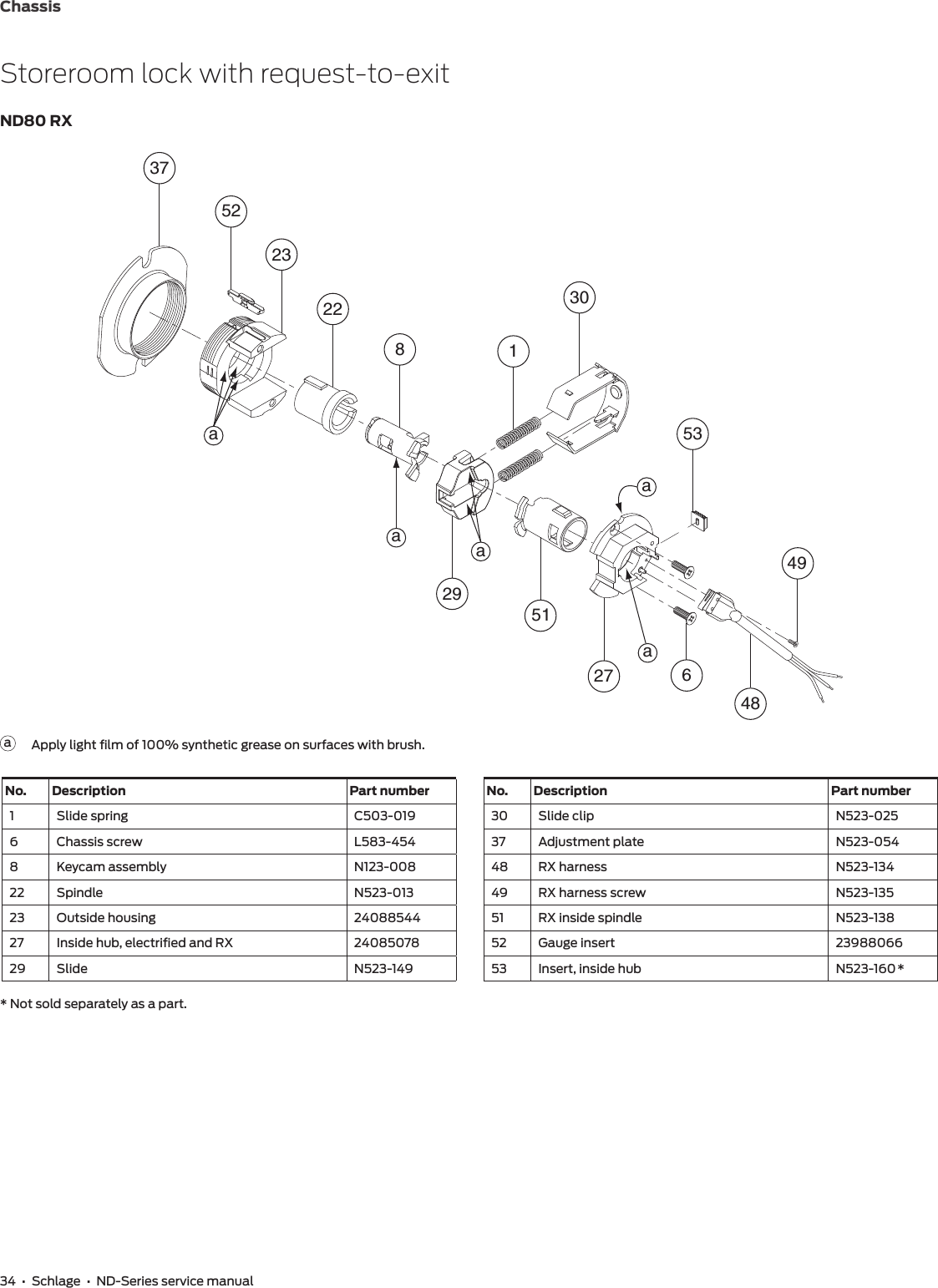 Schlage ND Series Service Manual 106499NDServicemanual on