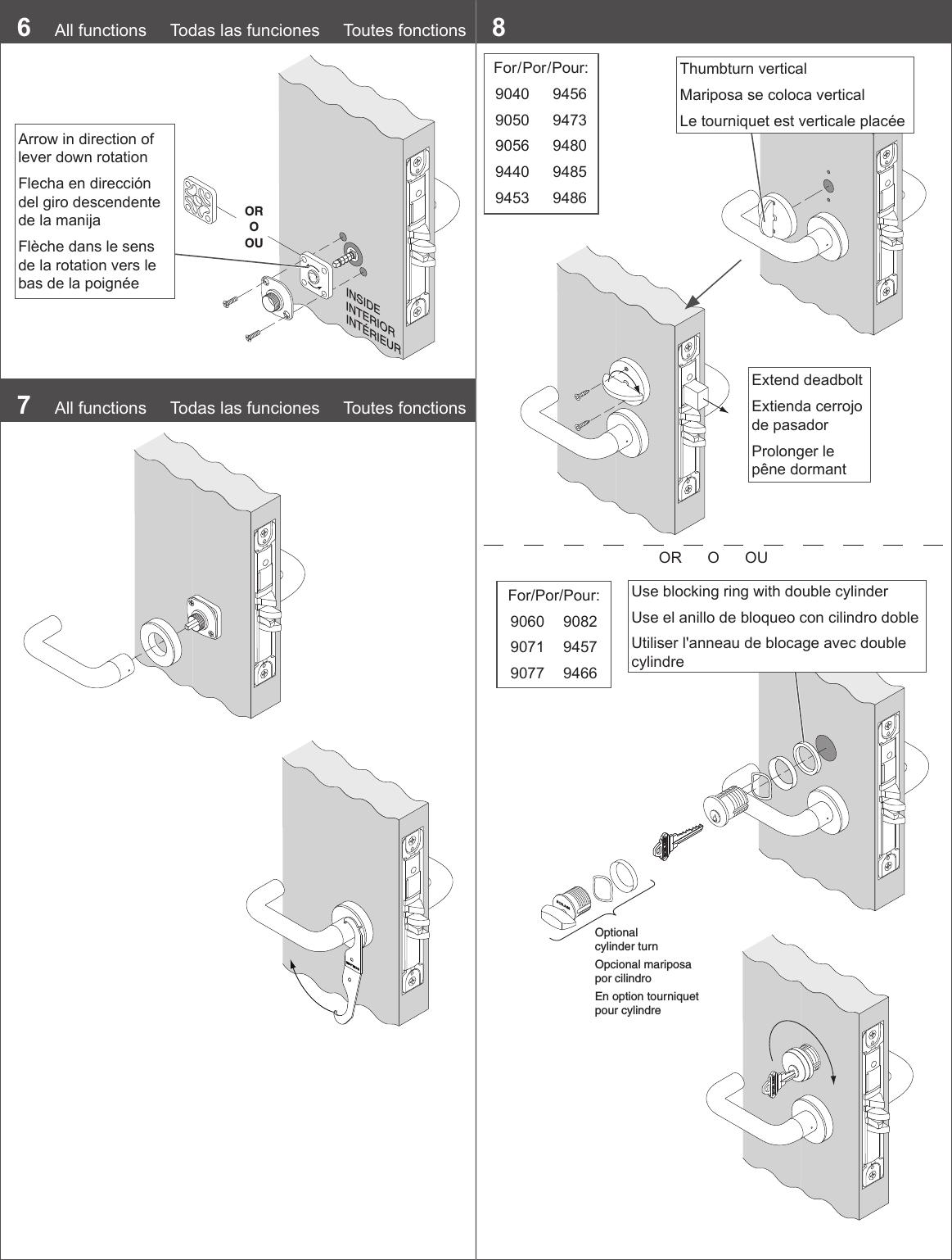 Schlage L9000 Series Wiring Diagram Detailed Schematics Key Switch 650 Installation Instructions 108367 Mortise Lock
