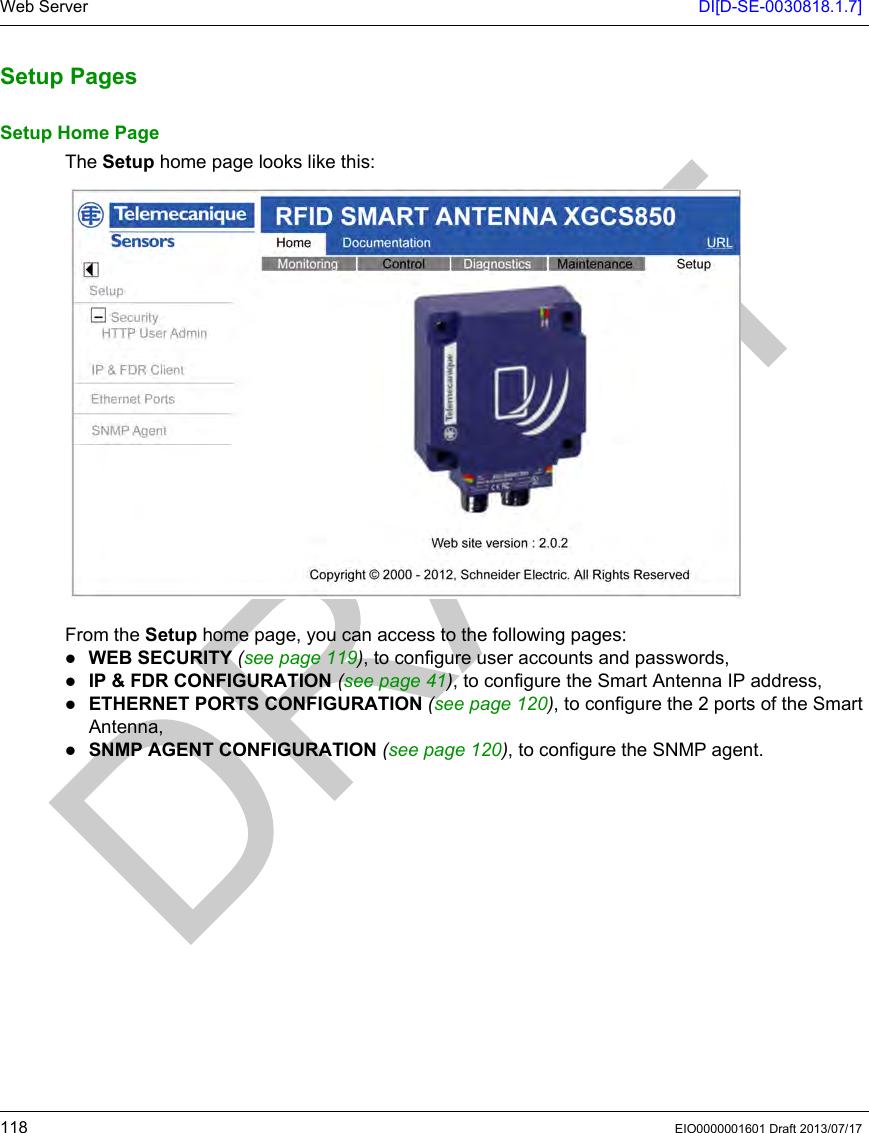 Schneider Electric France L Isle d Espagnac XGCS85 RFID Reader User