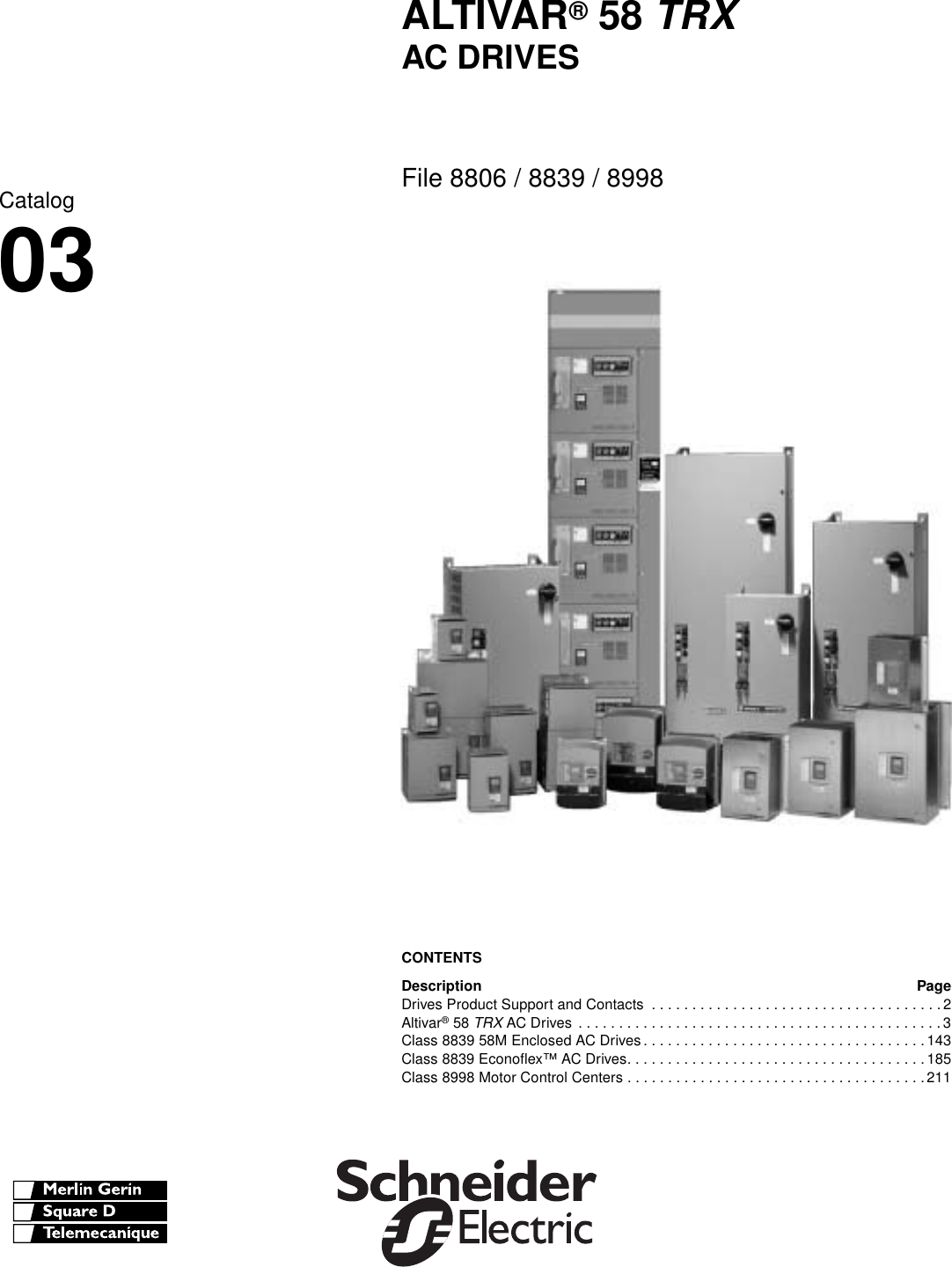 Schneider Electric Altivar 58 Trx Users Manual 8806ct9901 Mag Ic Contactor Wiring Diagram In Addition Car Diagrams Pdf