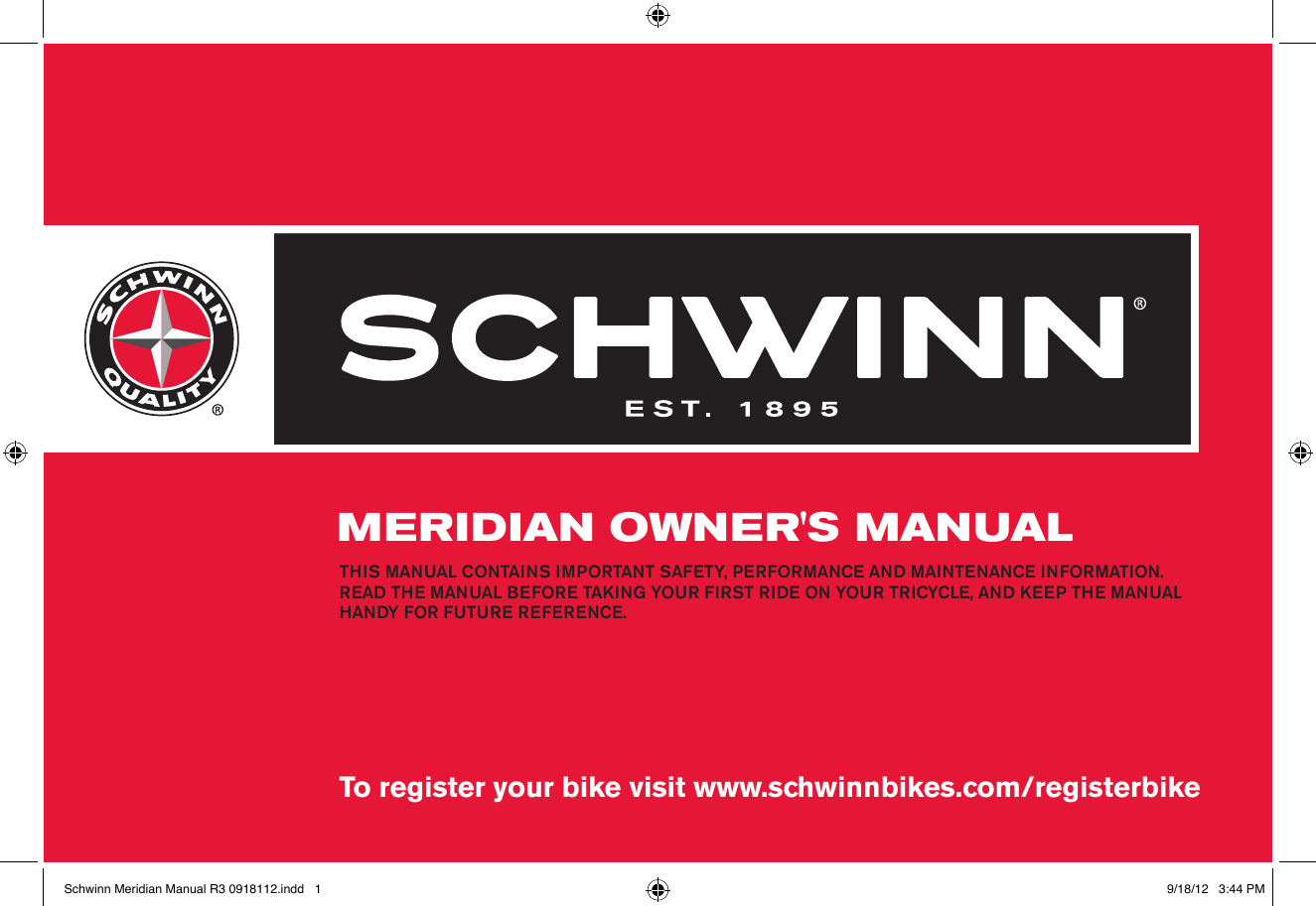 Schwinn Updated 2012 Meridian Owners Manual 50cc Wiring Diagram