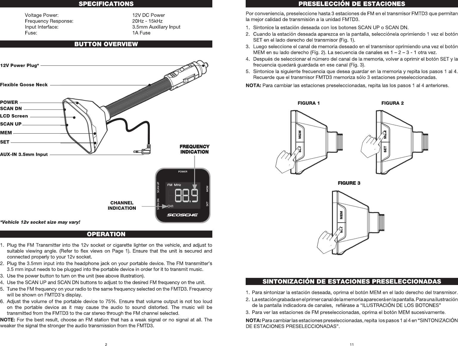 Scosche Fmtd3 Fm Transmitter User Manual Figure 2 Stereo Schematic