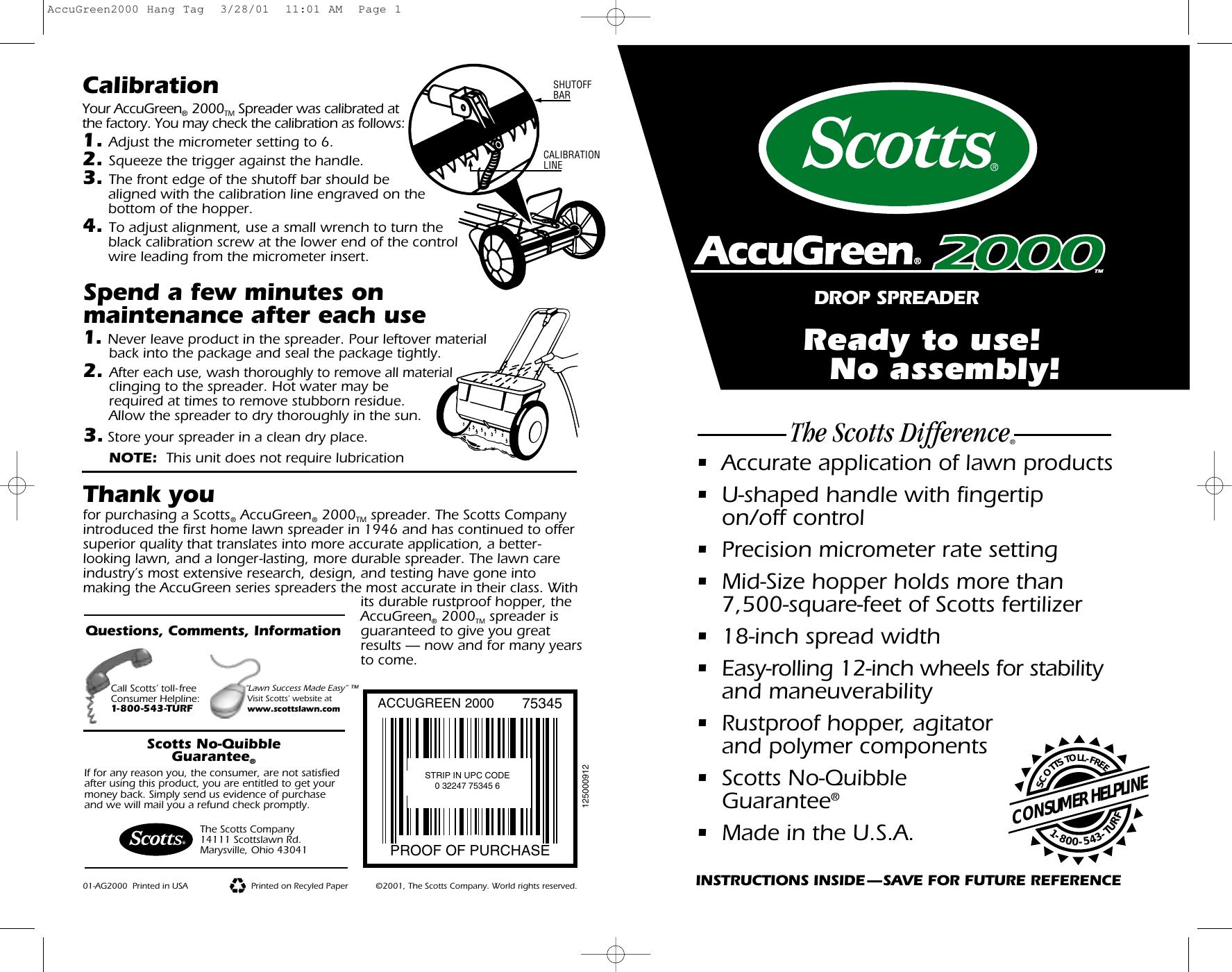 scotts user manual sample user manual