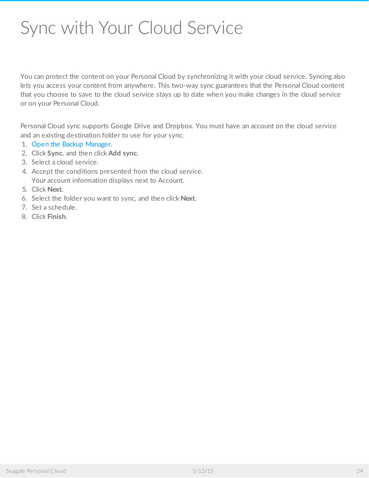 Seagate SRN21C Personal Cloud User Manual To The B292394b