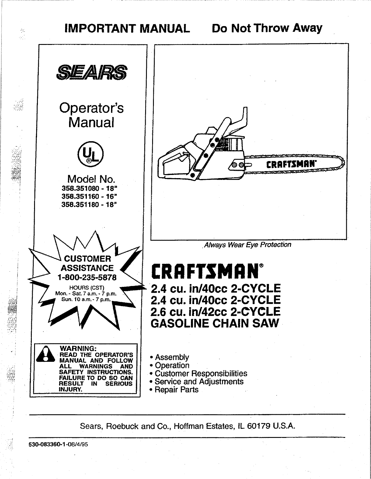 Craftsman 40cc Chainsaw Fuel Line Diagram