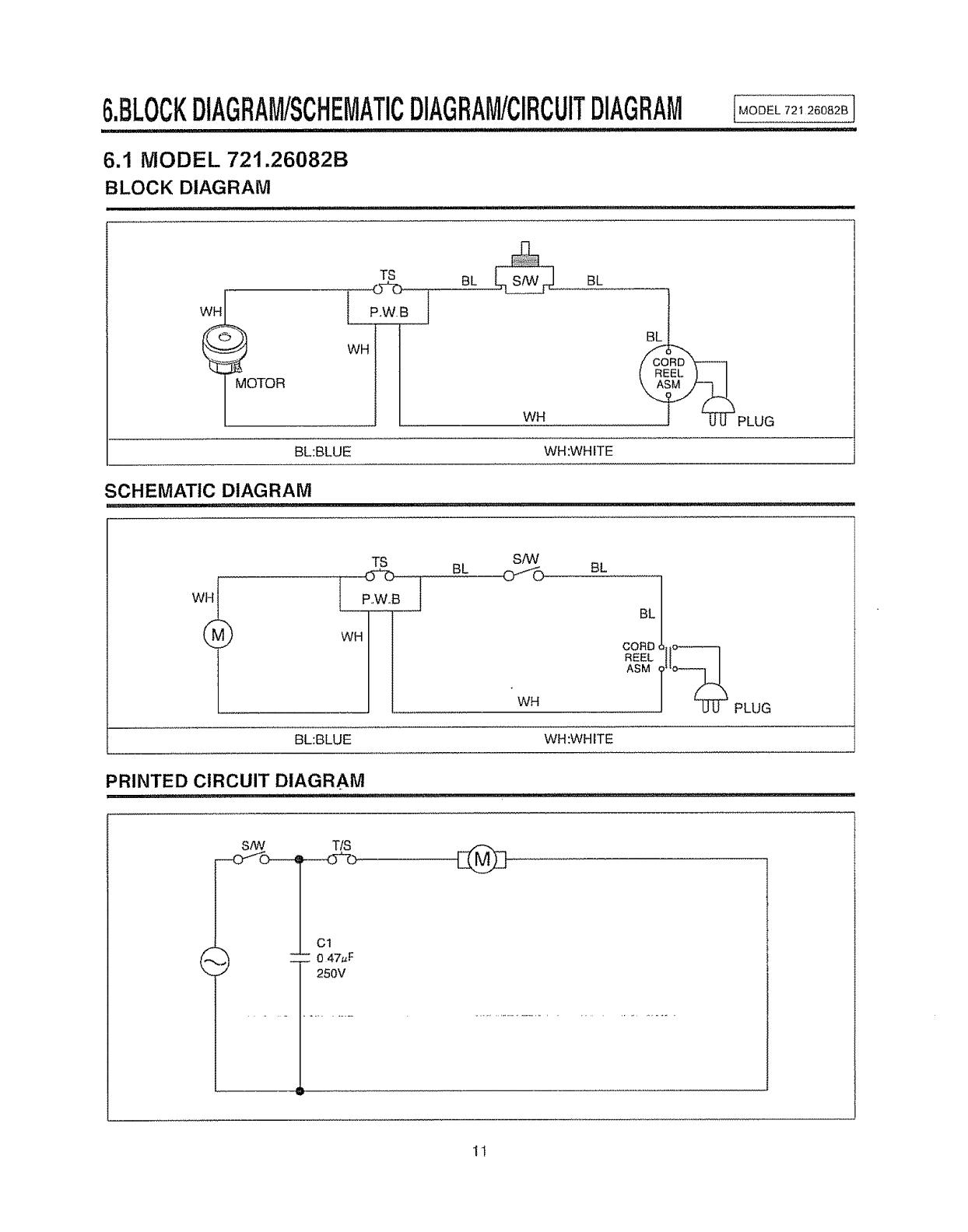 Sears 721 26082b Users Manual