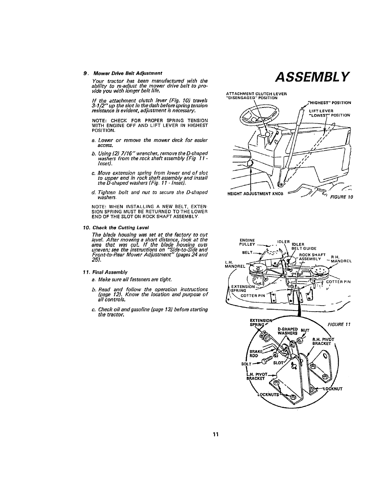 Sears 917 25471 Users Manual Governor Linkage Diagrams Besides Briggs Stratton Carburetor Diagram 9 Mower Ddve Belt Adjustment