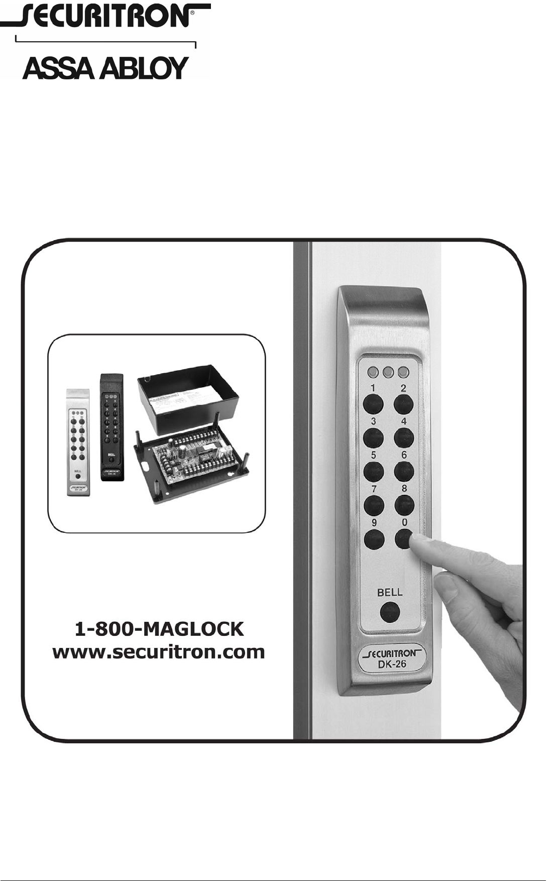 Securitron DK26 500 16900_D DK 26 Installation And Operating ... on m32 maglock, 600-pound maglock, double maglock, for sliding door maglock, wiring a maglock, side mount maglock,