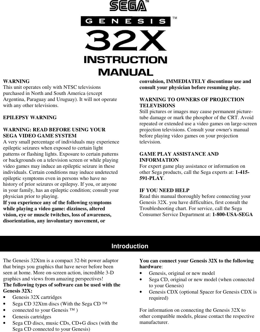 sega genesis 32x instruction manual rh usermanual wiki sega genesis manuals pdf sega genesis manuals for sale